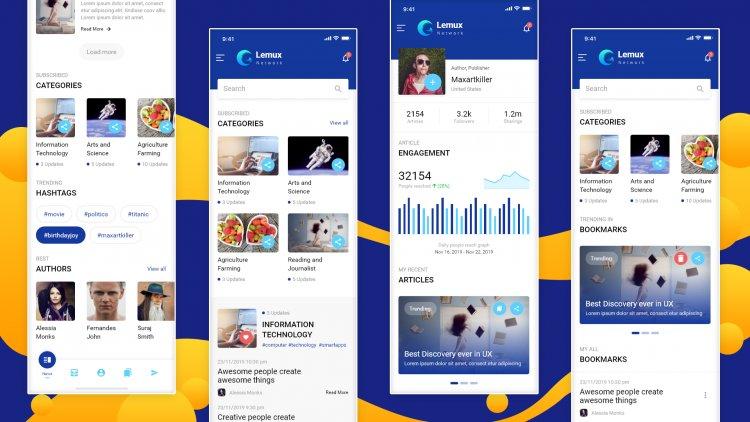 Lemux News & Magazine Mobile HTML templates Free
