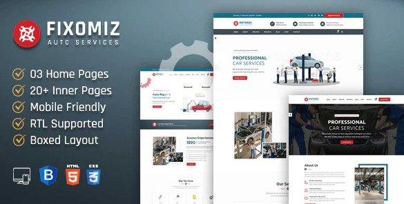 Fixomiz | Car Repair HTML Template + RTL Nulled