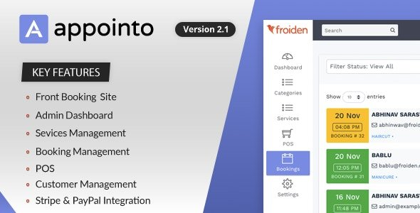 Appointo - Booking Management System v2.1.3 Nulled