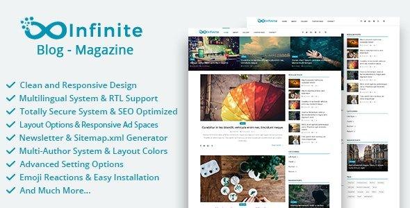 Infinite - Blog & Magazine Script v4.0.2 Nulled