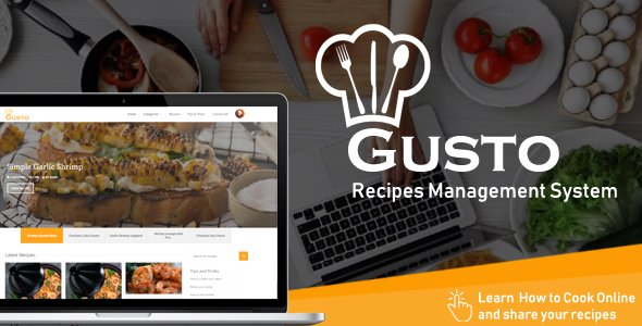 Gusto - Recipes Management System v3.2 Nulled
