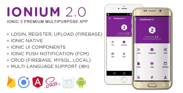 Ionium v2.0 - Ionic Multipurpose App using Ionic 3 Free