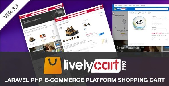 LivelyCart PRO - Laravel E-Commerce Platform | Shopping Cart v3.6.0 Nulled