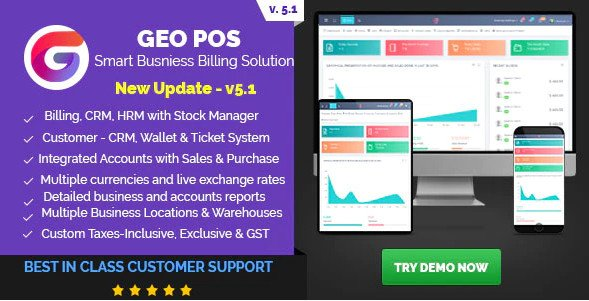 Geo POS - Point of Sale, Billing and Stock Manager Application v5.1 Nulled
