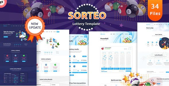 Sorteo – Lotto HTML Template Nulled Free