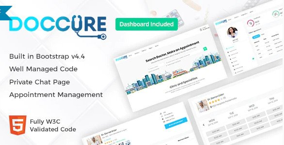 Doccure - Doctor Appointment Booking System Bootstrap Template with Admin Dashboard HTML FREE