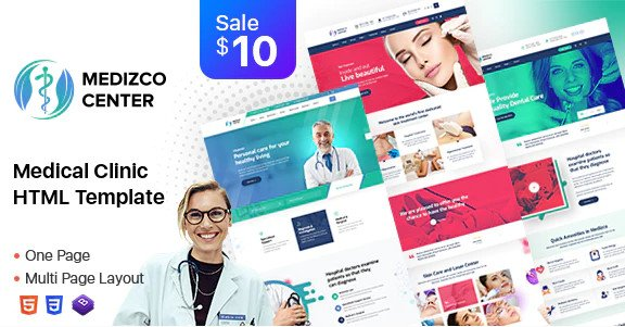 Medizco - Medical Health Dental Care Clinic Html Template Free