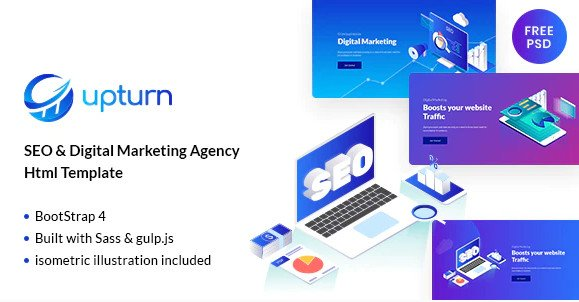 Upturn - SEO And Digital Marketing Agency Html Template Free