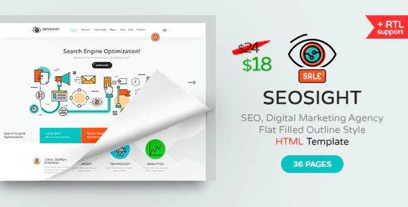 Seosight - SEO, Digital Marketing Agency HTML Template Free