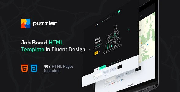 Puzzler - HTML Website Template for Job Board Nulled Free