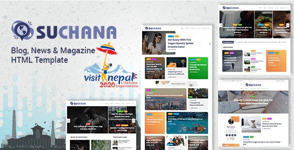 Suchana - Blog, News & Magazine HTML Template Nulled Free