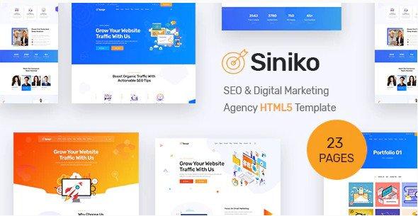 Siniko - SEO & Digital Marketing Agency HTML5 Template Nulled Free