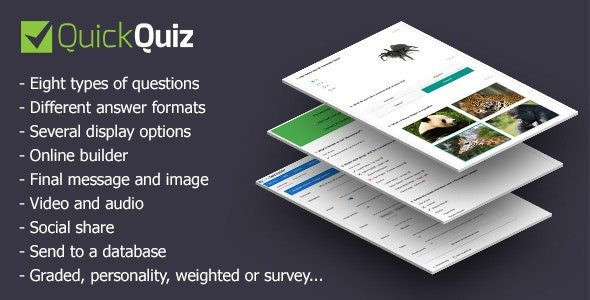 QUICKQUIZ V1.3.4 - SCRIPT FOR CREATING TESTS OR POLLS Nulled