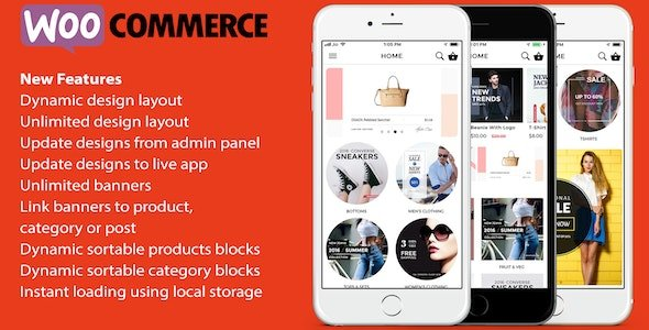 ionic 3 App for WooCommerce Free