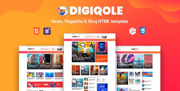 Digiqole - News, Magazine HTML Template Nulled