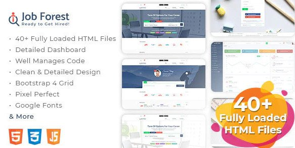 Job Forest - Job Board HTML Template Nulled