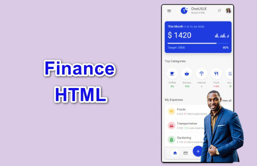 Finance OneUIUX Mobile HTML Templates Nulled