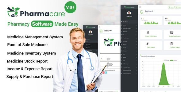 Pharmacare - Pharmacy Software Made Easy v9.1 Nulled