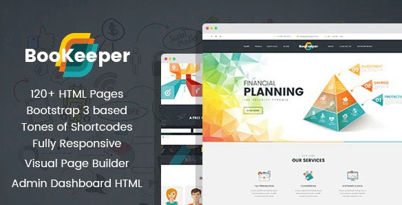 BooKeeper - Finances & Accounting HTML Template with Builder Free