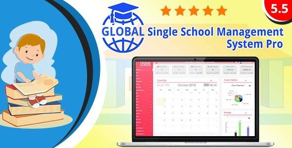 Global - Single School Management System Pro v5.5 Nulled