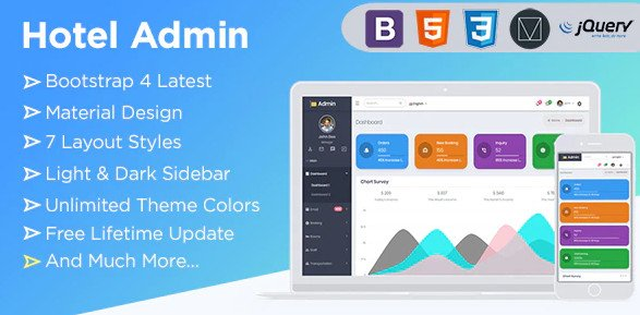 Spice Hotel | Bootstrap 4 Admin Dashboard HTML Template Free
