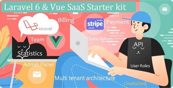 SaaSWeb, Laravel 6 & vue SaaS Starter kit Nulled