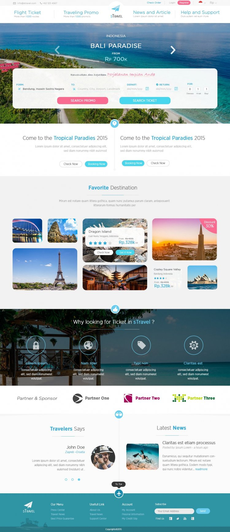 S-Travel Travel and Tour-Booking html templates free