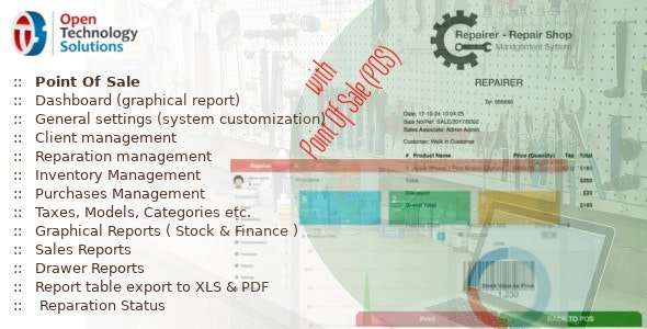 Repairer - Repair Shop Management System With Point Of Sale 3.6 Nulled