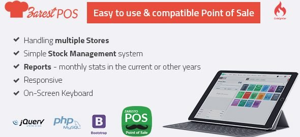 ZARest POS - restaurant point of sale web application v2.0.0 Nulled