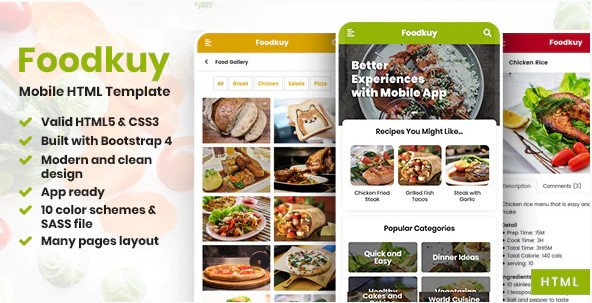 Foodkuy - Mobile HTML Template RIP (Nulled)