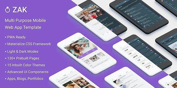 Zak: Multi Purpose Mobile Web App template RIP (Nulled)