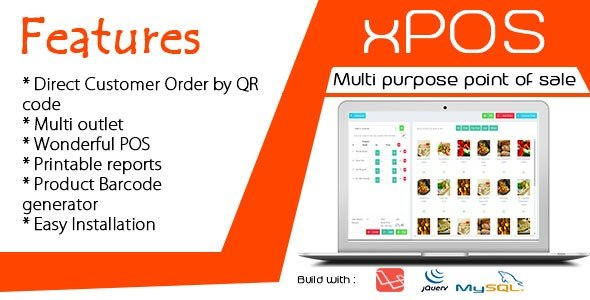 xPOS - Multi purpose Point of Sale in PHP v1.0 Nulled