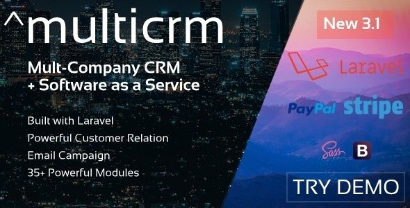 Multicrm - Multipurpose Powerful Open Source CRM. Customer Relation , Email Campaign v3.1.5 Nulled