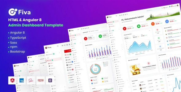 Fiva - Angular + HTML Admin Dashboard Template RIP (Nulled)