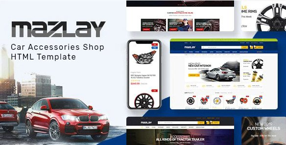 Mazlay - Car Accessories Shop HTML Template RIP (Nulled)