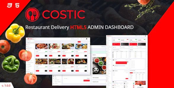 Restaurant Admin Dashboard HTML5 Template RIP