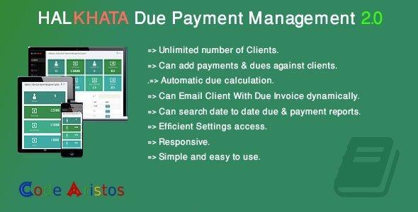 Halkhata Due Payment Management v2.0 Nulled