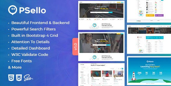 Psello - Classified listing HTML Template RIP (Nulled)