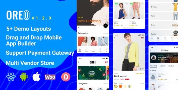 Oreo Fashion - Full React Native App for Woocommerce Free v1.4.3.1