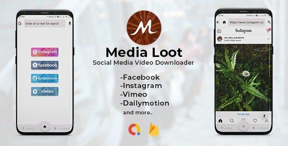 Media Loot - The Ultimate Social Media Downloader v1.0 Nulled