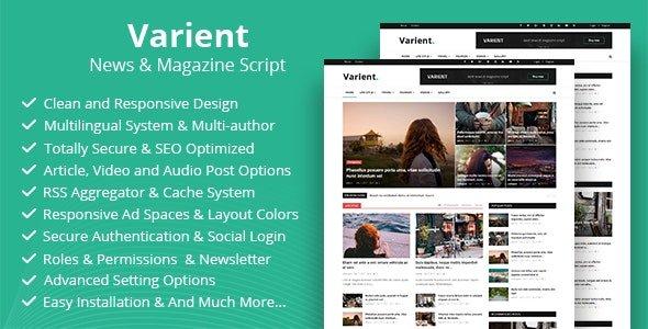 Varient – News & Magazine Script  v1.7 Nulled