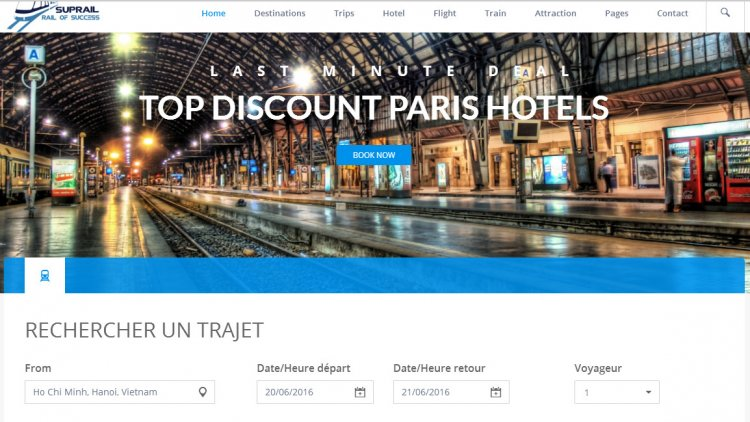 SupRail - Travel, Hotel, Flight booking HTML Templates (and apps)