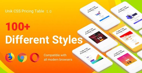 Unik CSS Pricing List / Pricing Table HTML CSS