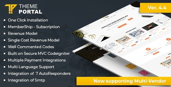 Theme Portal Marketplace - Sell Digital Products ,Themes, Plugins ,Scripts - Multi Vendor Nulled