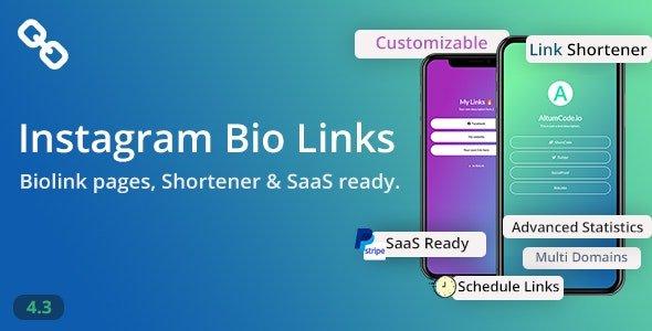 BioLinks - Instagram Bio Links & URL Shortener ( SaaS ) Nulled