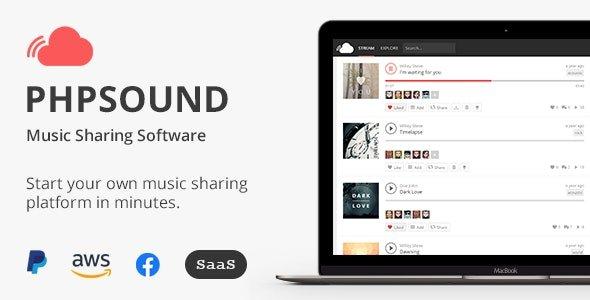 phpSound - Music Sharing Platform Nulled