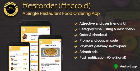 Restorder (Android) - A single restaurant food ordering app Free v2.0.5