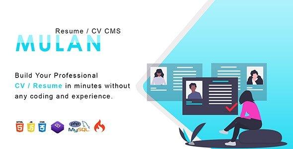 Mulan - Resume / CV CMS Nulled