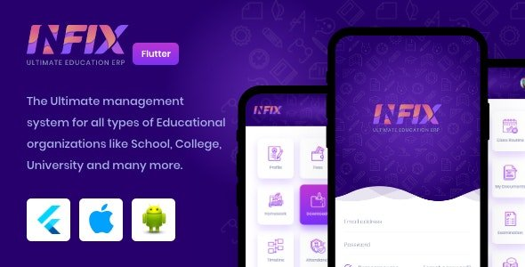InfixEdu - Open Source Flutter for Android & iOS Free v1.4.4