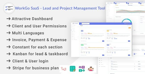 WorkGo SaaS - Lead and Project Management Tool Nulled